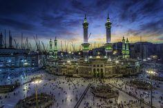 L'ampleur des travaux de la grande mosquée de La Mecque.