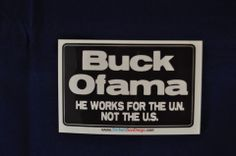 Buck Ofama Vinyl Sticker