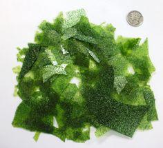 Bullseye Light Aventurine Green Sparkle Confetti Glass Chips 90 COE