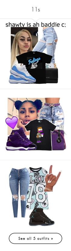"""11s"" by ma-shordy15 ❤ liked on Polyvore featuring Boohoo, Polo Ralph Lauren, Michael Kors, M.A.C, Balmain, Paper Root, Salvatore Ferragamo, Beats by Dr. Dre, WithChic and NIKE"