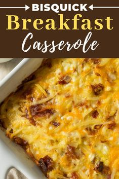 Whip up this Bisquick Breakfast Casserole recipe for a simple, savory breakfast the entire family will jump out of bed for!