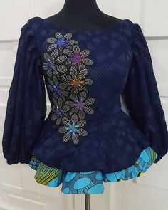 Short African Dresses, African Blouses, Latest African Fashion Dresses, African Print Fashion, Ankara Tops Blouses, Ankara Peplum Tops, Ankara Blouse, African Fashion Traditional, African Print Dress Designs