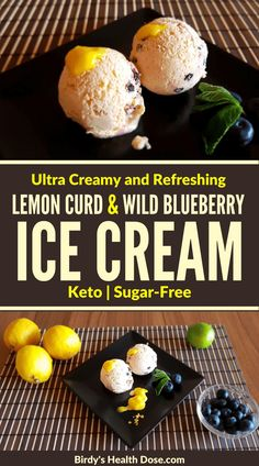 Lemon curd and wild blueberry ice cream is delicious, refreshing, sour, ultra-creamy, and fine, perfect for hot summer days, but also for the moments when you want such a dessert, furthermore, is keto-friendly, and sugar-free. Best Healthy Diet, Healthy Diet Recipes, Keto Snacks, Healthy Eating, All You Need Is, Blueberry Ice Cream, Wild Blueberries, Lemon Curd, Low Carb Desserts