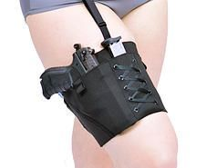 Concealed Carry Thigh Garter Gun Holster for Ladies, Women's holster, concealed carry, firearm, gun, holster http://www.cancanconcealment.com/ #Girl #Gun #Shotgun #Southern #Sassy #Country #Pistol