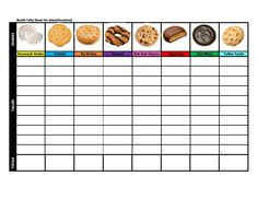 Cookie Tally sheet for adults to track cookie box inventory and ...