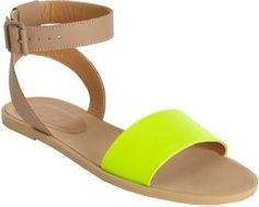 MM6 - Neon Band Sandal #15Things #fashion #style #trending #neonshoes #Maison #Martin #Margiela #MM6
