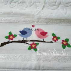 This Pin was discovered by Ays Crewel Embroidery, Cross Stitch Embroidery, Embroidery Designs, Cross Stitch Charts, Cross Stitch Designs, Felt Ornaments Patterns, Frame Crafts, Hand Art, Turkish Towels