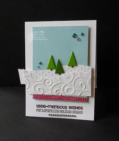 It's time to get into full swing and crank out those Christmas cards! Joy's Life has some tree-mendously humorous sets to get you s. Christmas Cards, Christmas Ornaments, Christmas Ideas, Winter Cards, Life Design, Card Making, Presents, Paper Crafts, Sparkle