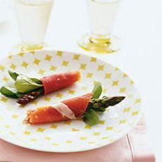 Asparagus Prosciutto Bundles with Arugula  These are amazing even without the arugula! And once you have started into them, you won't be able to stop eating them - delicious!!