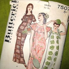 1950s Vintage Sewing Pattern  Butterick 7502  by SelvedgeShop, $14.00