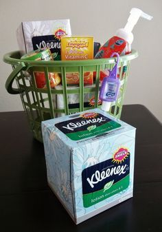 See how Momma Told Me puts together a Winter Get-Well/Stay-Well Gift Basket for cold and flu season, featuring Kleenex® Tissues with Lotion and other get-well items. Christmas Mom, Christmas Crafts, Get Well Baskets, Get Well Gifts, Diy Crafts For Gifts, Simple Gifts, Craft Sale, Craft Party, Creative Gifts