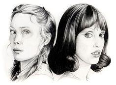 Black & white pencil portraits on Behance