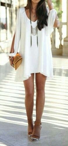 White dress with necklace