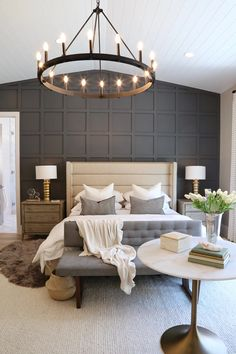 "Utah Valley Parade of Homes 2019 - Utah Valley Parade of Homes 2019 Wall! "" Utah Valley Parade of Homes 2019 Wall! Beautiful Bedrooms, Accent Wall Bedroom, Interior, Home, Bedroom Makeover, Home Bedroom, Parade Of Homes, Modern Bedroom, Master Bedrooms Decor"