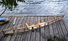Die Holzstruktur meines 4,5m langen Einsitzers #kanubau #skinonframe