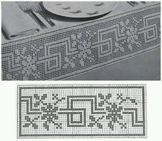 ideas for knitting charts patterns quilts Filet Crochet Charts, Crochet Borders, Crochet Cross, Crochet Diagram, Crochet Art, Knitting Charts, Crochet Motif, Crochet Doilies, Crochet Stitches