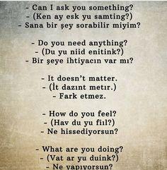 Learn Turkish Language, Arabic Language, Learn A New Language, English Language, Language Quotes, Language Lessons, Turkish Lessons, Teaching English Grammar, Islamic Phrases
