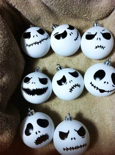 2014 Nightmare before Christmas ornaments inspired by Jack - handmade - LoveItSoMuch.com