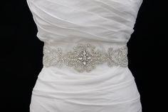 Swarovski Crystal  Bridal Belt Sash by GlamHouse on Etsy, $155.00