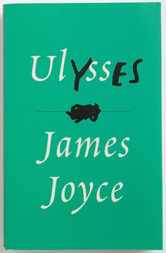 "Peter Mendelsund book cover for Ulysses. I love the embedded ""YES."" Like the ghostly ""JOHN"" on cover of The Year of Magical Thinking."