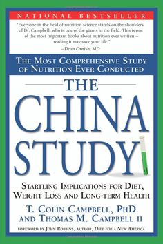 The China Study - love this study!  This is the basis for the Forks Over Knives video.  Both Dr. T. Colin Campbell and Dr. Caldwell Esselstyn, a former top surgeon at the renowned Cleveland Clinic conducted ground-breaking studies that led to make the Forks Over Knives video.