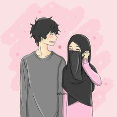 Wedding couple cartoon muslim Ideas for 2020 Cute Couple Selfies, Cute Couple Drawings, Cute Couple Art, Anime Love Couple, Sweet Couple Cartoon, Wedding Couple Cartoon, Couples Anime, Anime Couples Drawings, Cute Muslim Couples