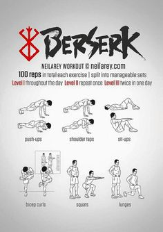 A good workout - 3 reps of 10 to start