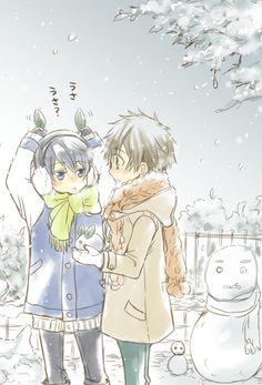 MakoHaru ♡ Makoto Tachibana x Haruka Nanase (Free! Eternal Summer and High☆Speed! Manga Anime, Fanarts Anime, Anime Guys, Free Eternal Summer, Haru And Makoto, Makoharu, Makoto Tachibana, Swimming Anime, Splash Free
