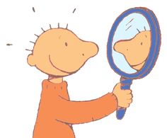 Jules in de spiegel Social Skills, Clipart, Elementary Schools, Winnie The Pooh, Kindergarten, Preschool, Illustration, Kids, Compliments