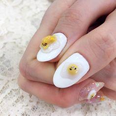 Gudetama gel nail
