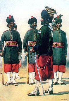 127th Baluch Light Infantry 1900. British Indian Army.