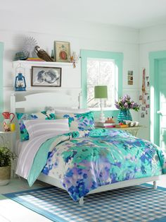 Teen Vogue Watercolor Garden Comforter Set