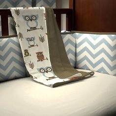 Baby Blanket in Retro Owls by Carousel Designs.