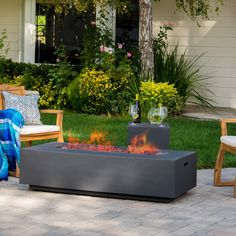 Christopher Knight Home Santos Outdoor 56-inch Rectangular Propane Fire Table with Tank Holder