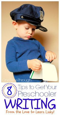 8 Tips to Get Your Preschooler Writing - One Time Through sm