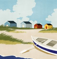 ::: Illustration by SHOUT ::: www.dutchuncle.co.uk/shout-images #Walberswick #illustration