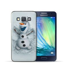 For Samsung Galaxy J1 J3 J5 J7 Case Lovely Snowman Olaf Pattern Hard Back Case 2016 New arrival For Coque Samsung A3 A5 A7 Case