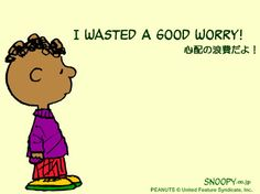 I wasted a good worry!