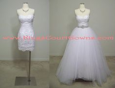 Replica Lace Sheath Wedding Dress Gown With by KingsCourtGowns