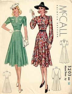 1930s/1940s McCall pattern