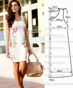 We have a ton of printable sewing patterns and we promise to keep adding more! 45 Free Printable Sewing Patterns is sure to hold your next project. Fashion Templates to make an easy-sew dress Ropa veraniega: ideas y patrones El patrón del vestido veranie Free Printable Sewing Patterns, Dress Sewing Patterns, Free Sewing, Clothing Patterns, Shift Dress Patterns, Simple Sewing Patterns, Sewing Ideas, Sewing Projects, Simple Dress Pattern
