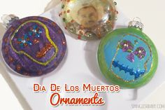 DIY ornaments for #DayoftheDead #DiadelosMuertos