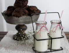 Mini Milk Jars with Holder Romantic Dinner For Two, Romantic Dinners, Milk Jars, Mini Milk, Breakfast In Bed, Rustic Charm, Accent Pieces, Glass Jars, Farmhouse
