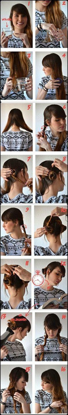 Get easily natural wavy hair