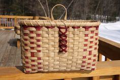 Hand Woven Mitten Basket by BlueFrogBasketry on Etsy