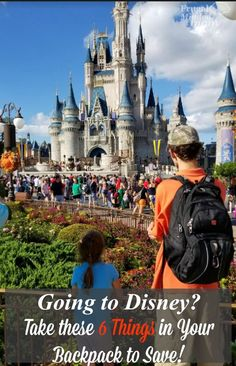 Going to Disney World? Avoid spending extra money by putting these 6 things in your backpack. Travel List, Disneybound, Ways To Save Money, Mom Blogs, Frugal Living, Extra Money, Thursday, Vacations, Saving Money