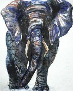 African Elephant  #elephant #africanelephant #africa #africanwildlife #safari #watercolor #watercolour #animalart #artworks #painting Elephant Elephant, African Elephant, Watercolour, Safari, Artworks, Lion Sculpture, Statue, Painting, Instagram