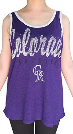 GOLDEN ZONE Womens Colorado Rockies Casual Shirts Rhinestone Tops - Purple (Size: L) Golden Zone http://smile.amazon.com/dp/B00VUSBJWY/ref=cm_sw_r_pi_dp_mcxpvb1P0WP7V