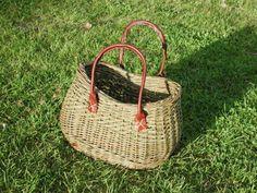 Pileting Basket Bag, Fiber Art, Yellow, Wicker Baskets, Presents, Totes, Dekoration, String Art