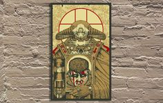 """Orthodoxal Sin"" by Nikita Kaun. Edition of 50, printed at FugScreens Studios. Our first collaboration with this illustator based out of Saint Petersberg, Russia. We are very excited to introduce him to the Galerie F family.  For the Galerie F Exclusive Release of December. Celebrating the 20th anniversary of the DOOM video game. I can still see the roaring chainsaw when I close my eyes...  View and purchase the print here - http://www.galerief.com/portfolio/orthodoxal-sin/"